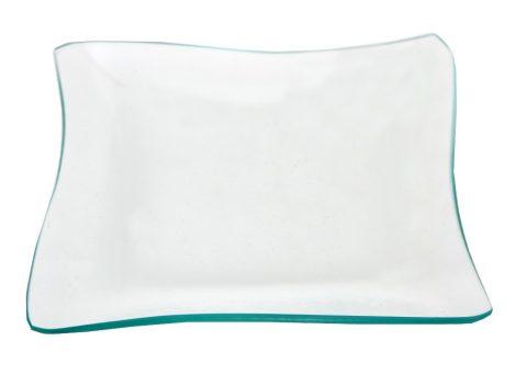 Üvegtál hullámos szélű 20*20cm 16375