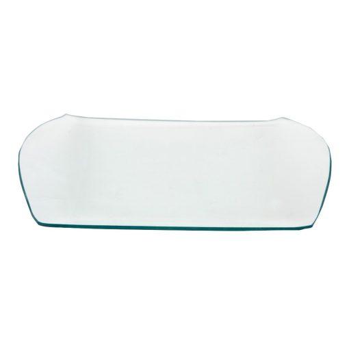 Üvegtál süteményes 32*25cm 16380