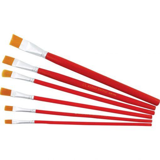 Ecset szett, 6 részes, 12-ig, piros / kék nyelű 5929/5930