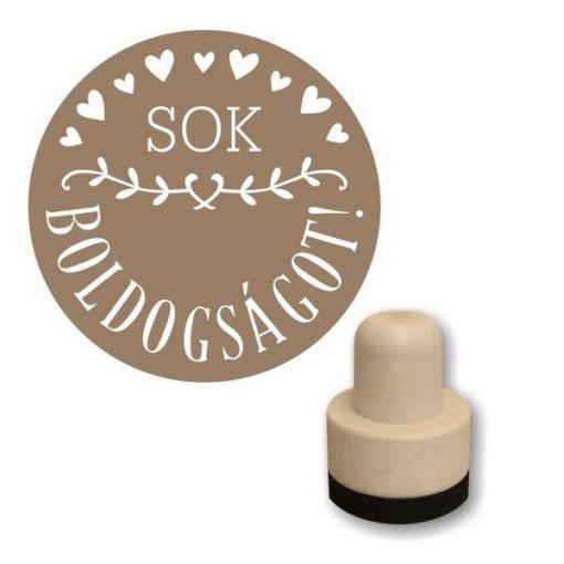 Guminyomda kör, 3cm-es - Sok boldogságot  FS30-W009