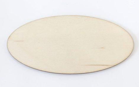 Fatábla / hűtőmágnes alap 5*10cm ovális C1831