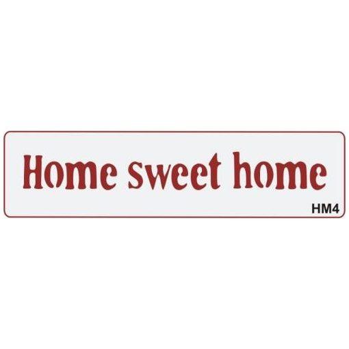 3D Stencil / sablon, 20*5*1cm, HM4 - Home sweet home
