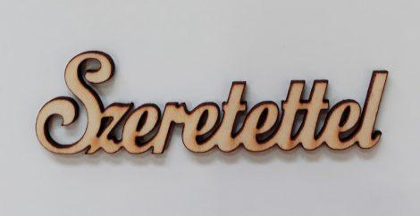 """Felirat """"Szeretettel"""" 9,5*3*0,3cm 1968C"""