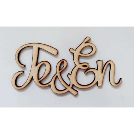"""Felirat """"Te & Én"""" 12*6*0,3cm 3604C"""
