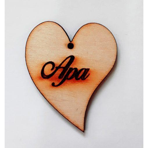 """Szív """"Apa"""" felirattal 5*4,5*0,3cm 3614C"""