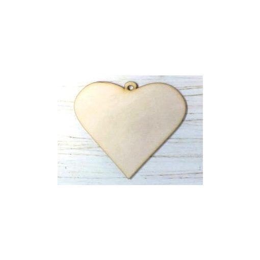 Szív rusztikus 9*10*0,3cm 1365C