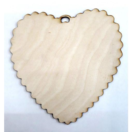 Szív fodros szélű 15*15*0,3cm 1675C
