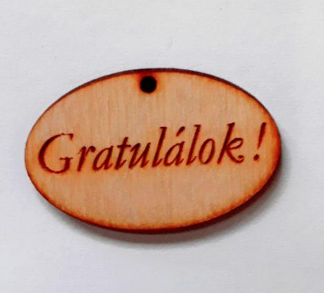 """Táblácska """"Gratulálok"""" 4*2,5*0,3cm 1763C"""