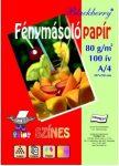 Színes fénymásoló papír A/4, Blackberry 80g 5*20ív/cs, pasztell színek  32440