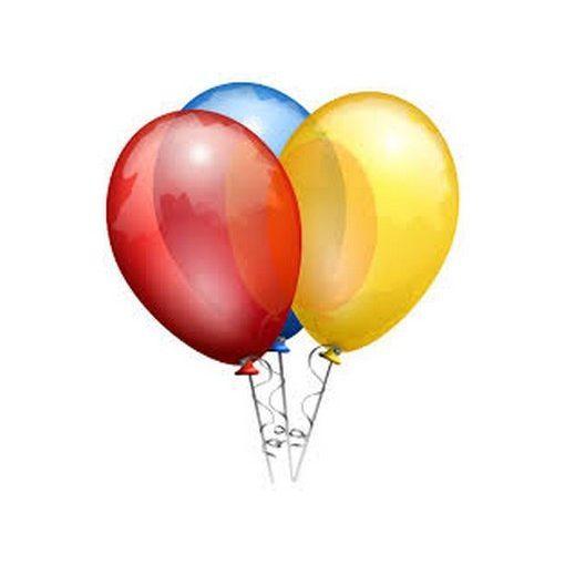 Léggömb / lufi kerek, egyszínű, több színben