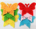 Filcfigura pillangók, áttört 6db/cs, kb.5cm 23216