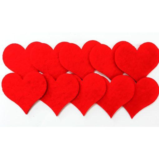 Filcfigura szívek, mini 10db/cs, kb.4cm 23208