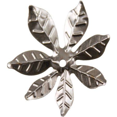 Fém díszítőelem, virág 3cm, 10/cs 29971