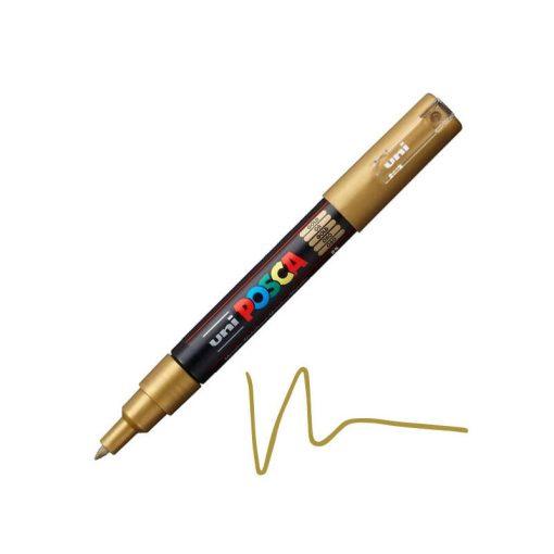 Akril toll / marker Posca UNI PC-1M 0,7mm  - Arany
