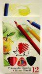 Vastag színes ceruza készlet 12 db-os Koh-I-Noor háromszög 77032