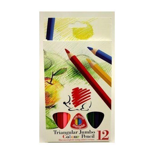 Vastag színes ceruza készlet 12 db-os ICO SÜNI háromszög F340008K12/77032