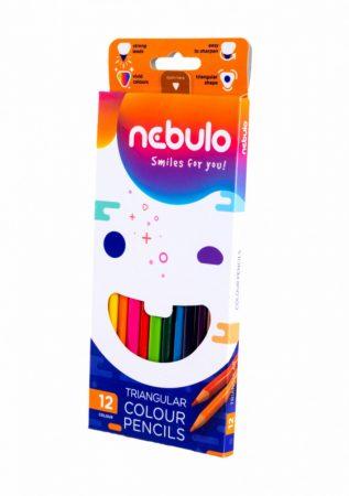 12 db-os színes ceruza készlet Nebuló háromszög F34902K12/ 83972