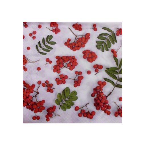 SDOG017001 Szalvéta, piros bogyók