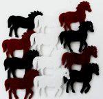 Filcfigura lovak, mini 12db/cs, kb.3cm 27326