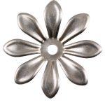 Fém díszítőelem, virág 2,5cm, 10/cs 29961