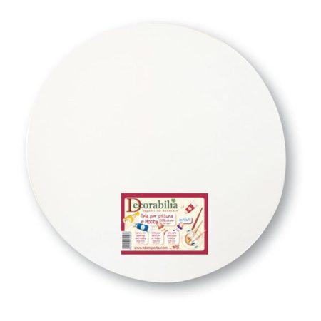 Feszített festővászon, alapozott kör 15cm 8650/ KTL09
