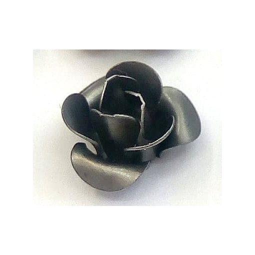 Fém díszítőelem, rózsa 1,2cm 10/cs 29978