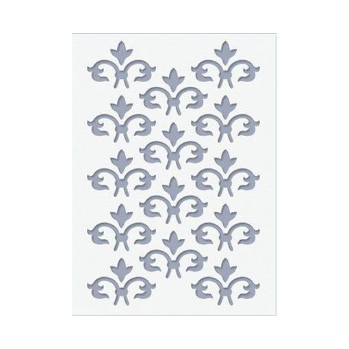 Stencil / Sablon HDS15-001 15*20cm*0,1mm Francia liliom