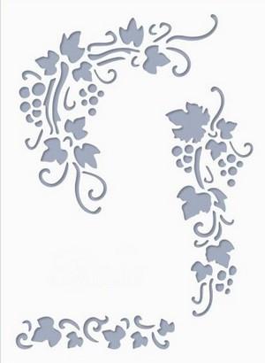 Stencil / Sablon HDS15-037 15*20cm*0,1mm Szőlő