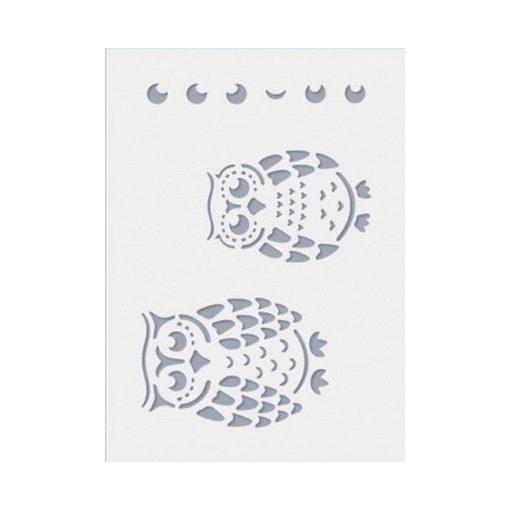 Stencil / Sablon HDS15-042 15*20cm*0,1mm Baglyok