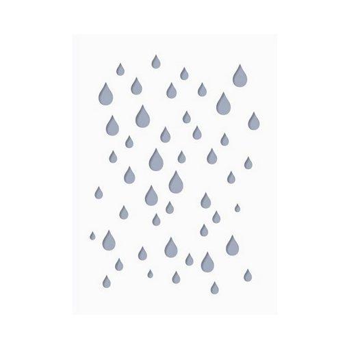 Stencil / Sablon HDS15-046 15*20cm*0,1mm Eső