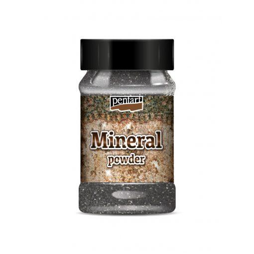 Pentart ásványpor, finom szemcsés kb.130g  - Fekete Gránit