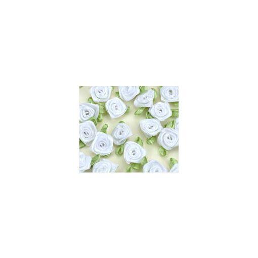 Szatén rózsafejek 2 cm 25db/cs 7367C 7 színben
