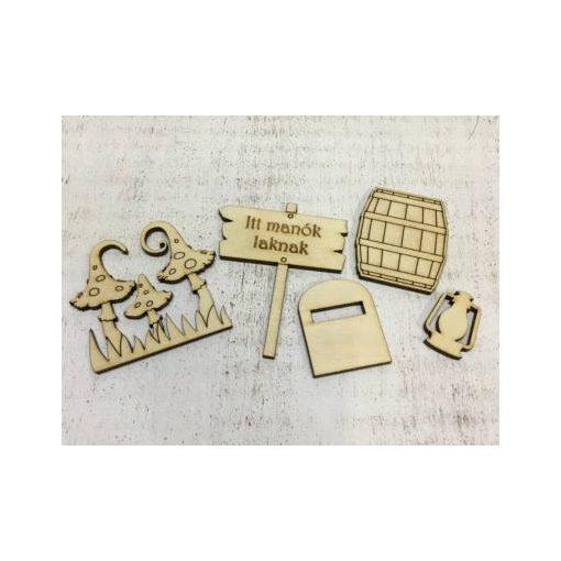 Manókellék - fa kiegészítők 3-6,5 cm 5db/cs 5248C