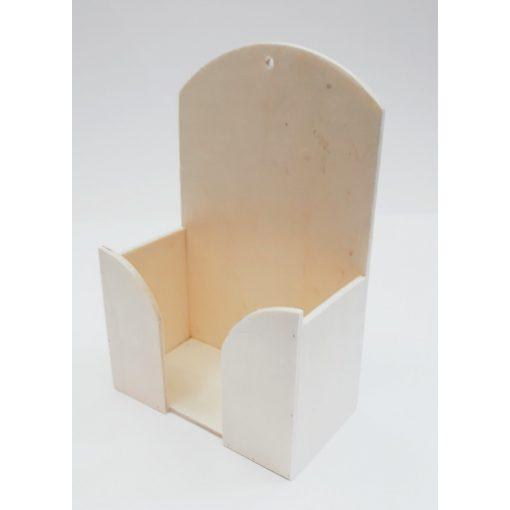 Fa papírzsebkendő tartó feles 13*19,5*7cm 6923C
