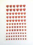 Öntapadós flitter, szívek 1cm, 77db 4 színben C40-1164