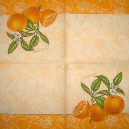 SLOG010201 Szalvéta, narancsok