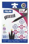 Filctoll készlet 10 db-os Milan, ecsetfilc F21180K10