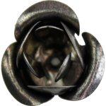 Fém díszítőelem, rózsa 3cm 10/cs 29977