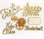 Fa feliratok, betűk és minták